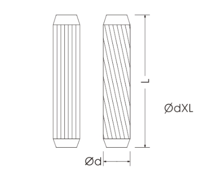 Round Threaded Wood Dowel Pins 15~100mm Length For Cabinet Drawer Connection