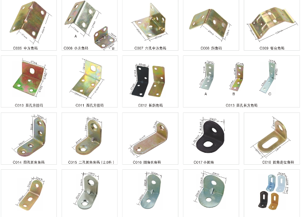 Wear Resisting Furniture Fixing Brackets L Shape Anti - Rust ISO Certificate
