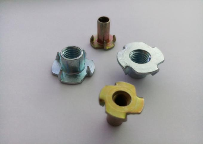 Durable Furniture Insert Nut 4 Prongs T Nuts Free Sample With OEM Service