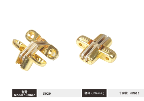 Golden Finished Concealed Door Hinges 180 Degree Opening Angle Wear Resistance