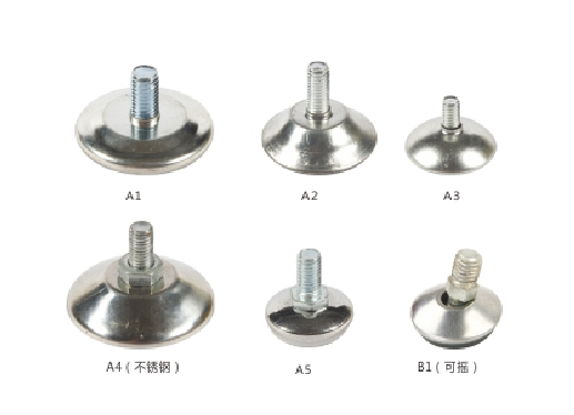 Adjustable Furniture Feet Glides Corrosion Resistence With M8 Screw Bolt