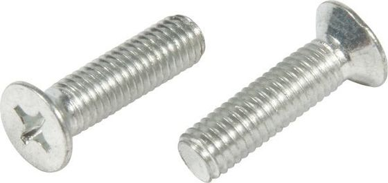 China M4 M6 M8 M10 Silver Furniture Screw Bolts Grade 4.8 Phillip Socket Flat Head supplier