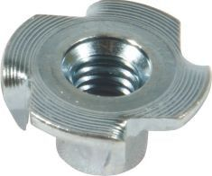 China Durable Furniture Insert Nut 4 Prongs T Nuts Free Sample With OEM Service supplier