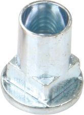 China M6 M8 Yellow Zinc Or White Zinc  Plated Square Neck Rivet Nut For Screw Bolt Connection supplier