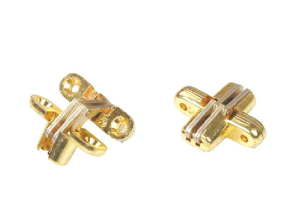 China Golden Finished Concealed Door Hinges 180 Degree Opening Angle Wear Resistance supplier