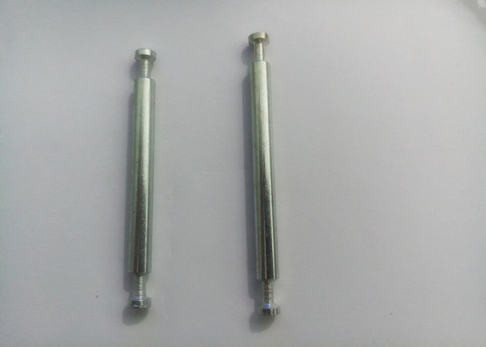 6mm Diameter Double Ended Dowel White Zinc Plated Surface